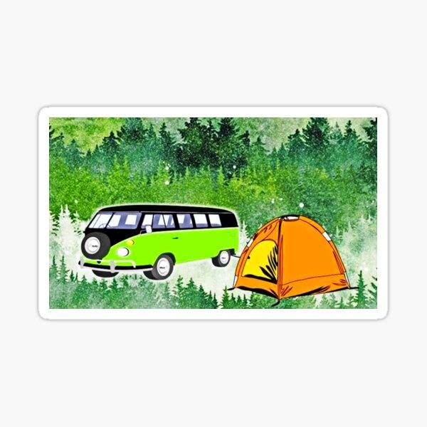Camping Adventure Sticker