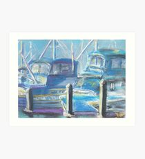 Harbor Pair (pastel) Art Print