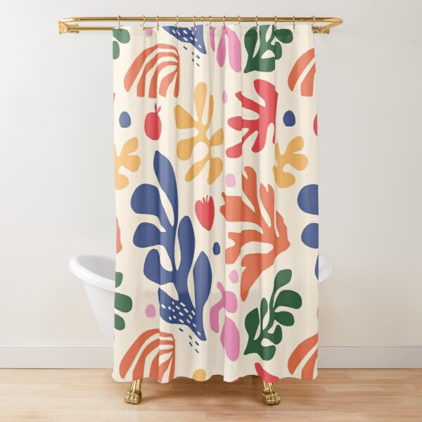 Tropical Matisse inspired foliage Shower Curtain
