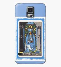 Funda/vinilo para Samsung Galaxy Alta Sacerdotisa Tarjeta de Tarot Azul Adivino