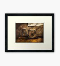 Graphic Artist - AB Framed Print