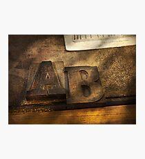 Graphic Artist - AB Photographic Print