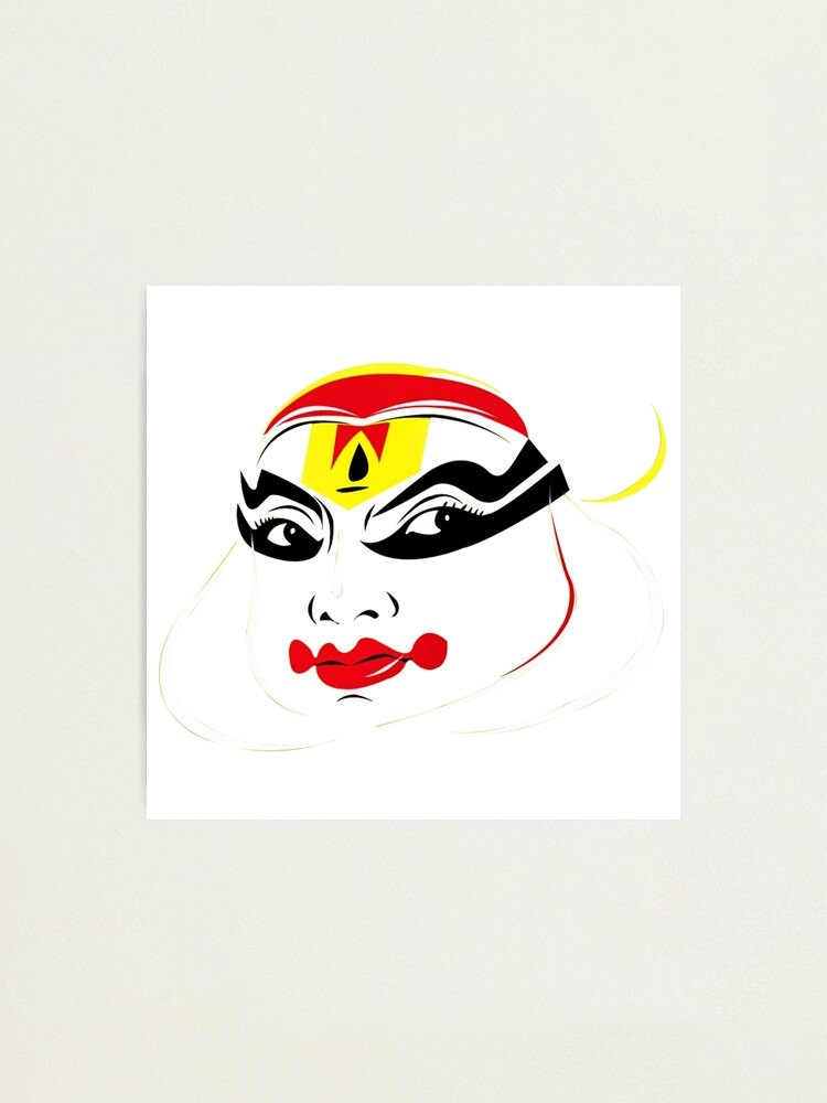 Kathakali Dancer Face From Kerala India Best For Tourists Photographic Print By Raseelvm Redbubble