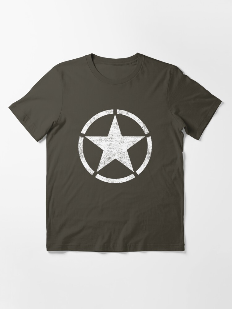 Alternate view of Vintage look US Army Star Essential T-Shirt