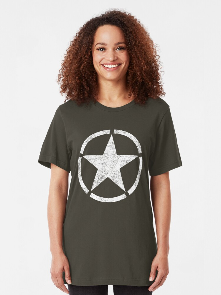 Alternate view of Vintage look US Army Star Slim Fit T-Shirt
