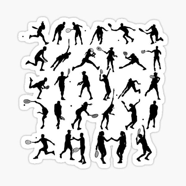 Tennis Poses Stickers Sticker