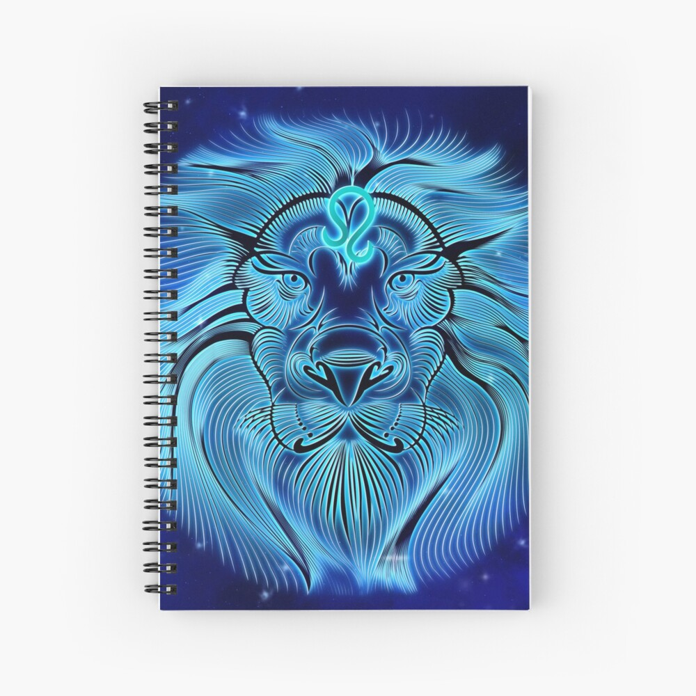VibeCircle Blue Leo Spiral Notebook