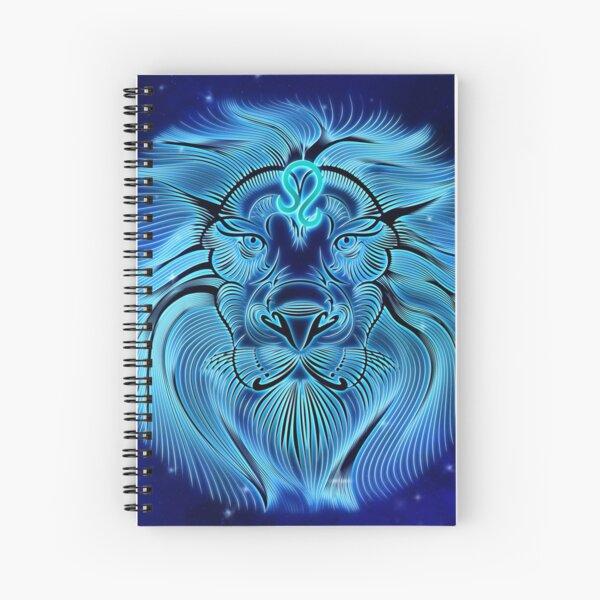 VibeCircle Blue Leo Spiral Notebook