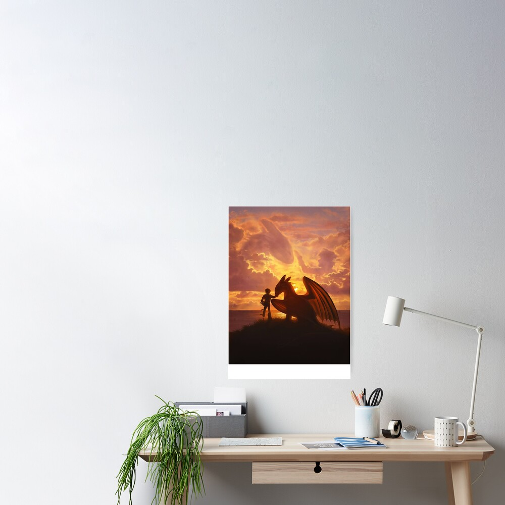 sunset dragons Poster