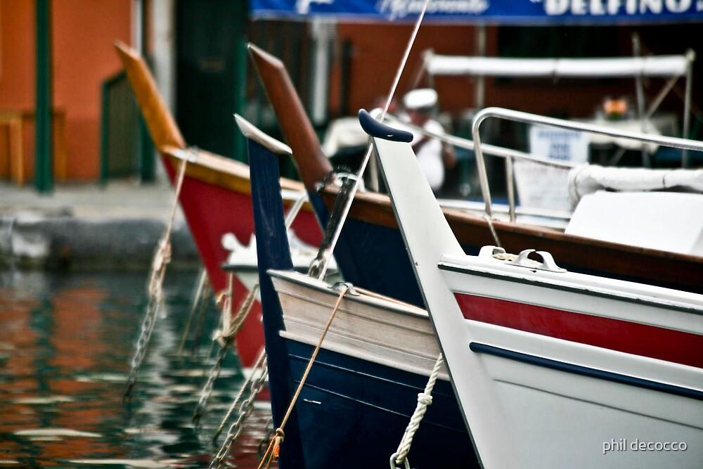 Bows Of Portofino, Italy by phil decocco