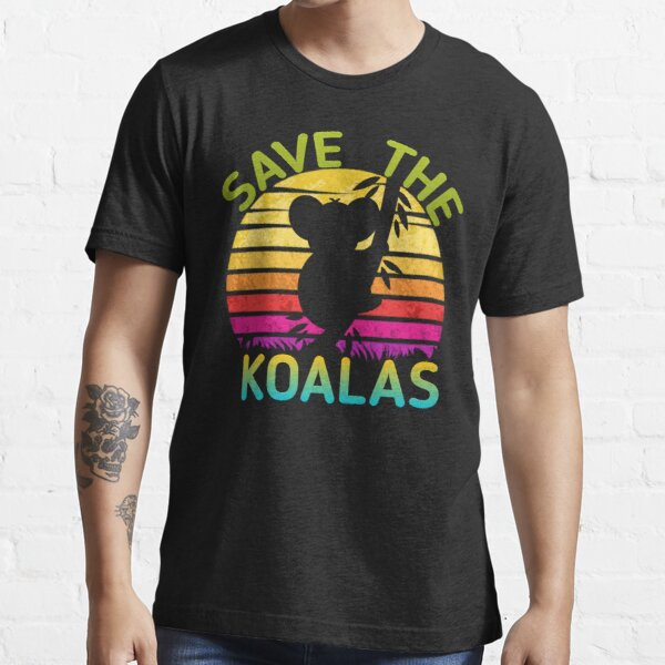 guardar la camisa de los koalas: guardar Australia, ayudar a los incendios de Australia, la camisa de Australia, Camiseta esencial