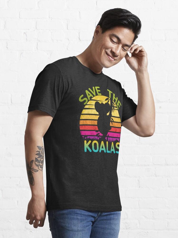 Vista alternativa de Camiseta esencial guardar la camisa de los koalas: guardar Australia, ayudar a los incendios de Australia, la camisa de Australia,