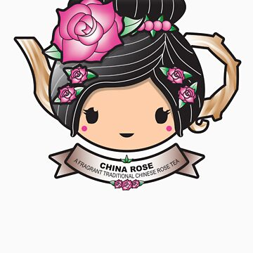 China Rose Teapot by BubbleDoll