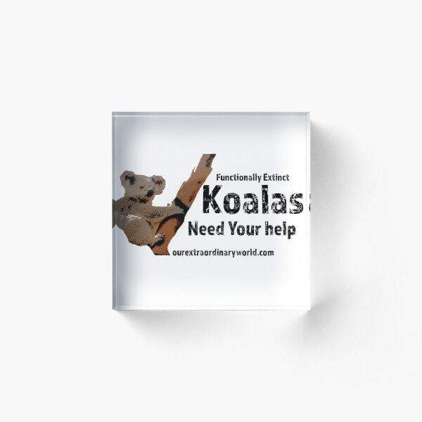 Save the Koalas and Help Australian Wildlife Acrylic Block