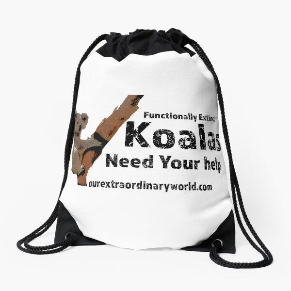 Save the Koalas and Help Australian Wildlife Drawstring Bag