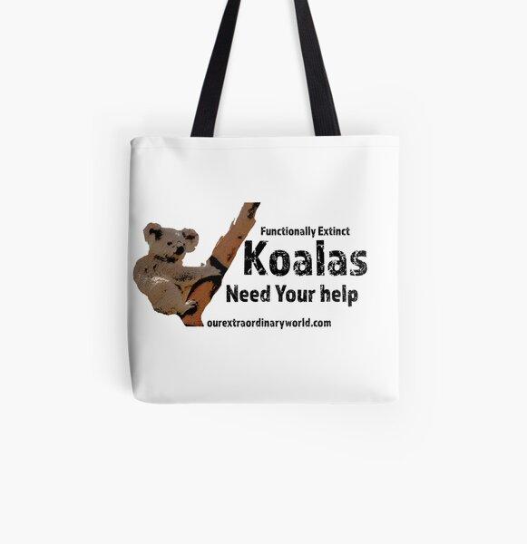 Save the Koalas and Help Australian Wildlife All Over Print Tote Bag