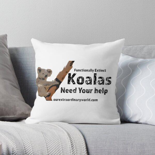 Save the Koalas Throw Pillow