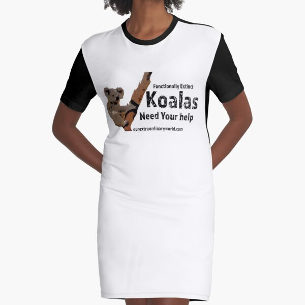 Save the Koalas and Help Australian Wildlife Graphic T-Shirt Dress