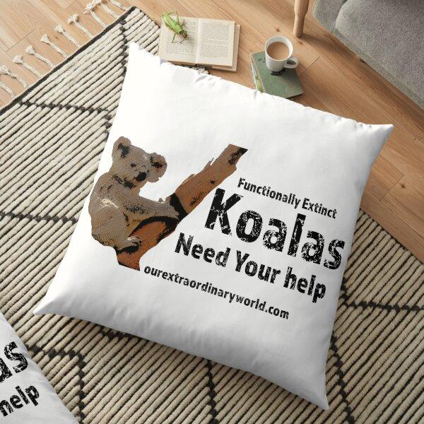 Save the Koalas Floor Pillow