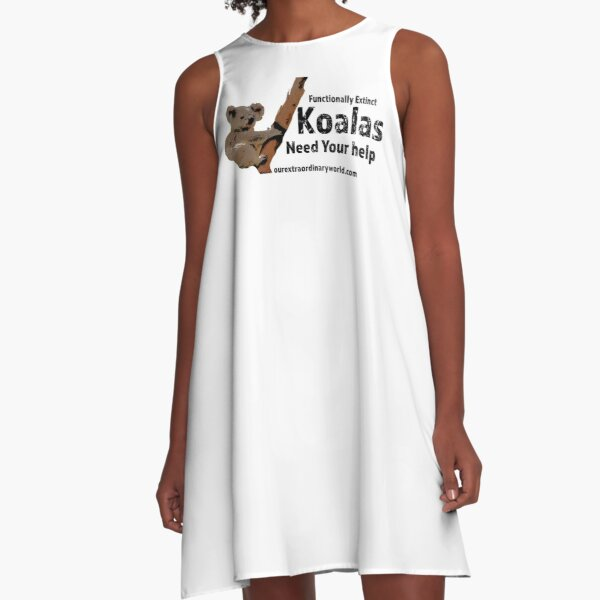 Save the Koalas and Help Australian Wildlife A-Line Dress