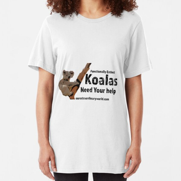 Save the Koalas and Help Australian Wildlife Slim Fit T-Shirt