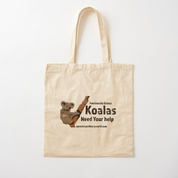 Save the Koalas and Help Australian Wildlife Cotton Tote Bag