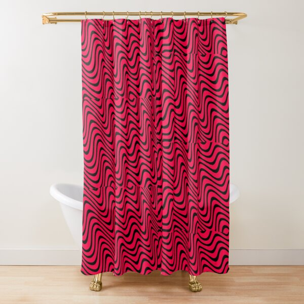 PewDiePie Red And Black Shower Curtain