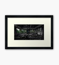 A falling out Framed Print