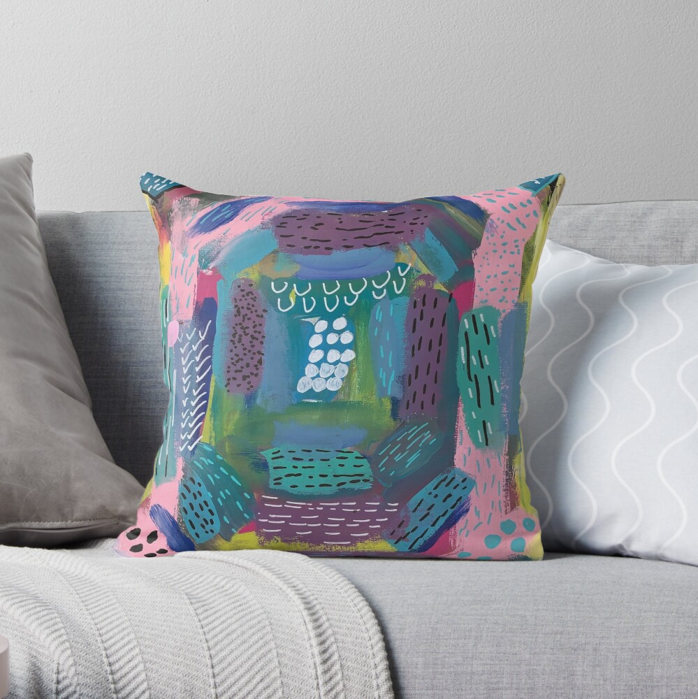 The Impression of the Electric Element  Throw Pillow