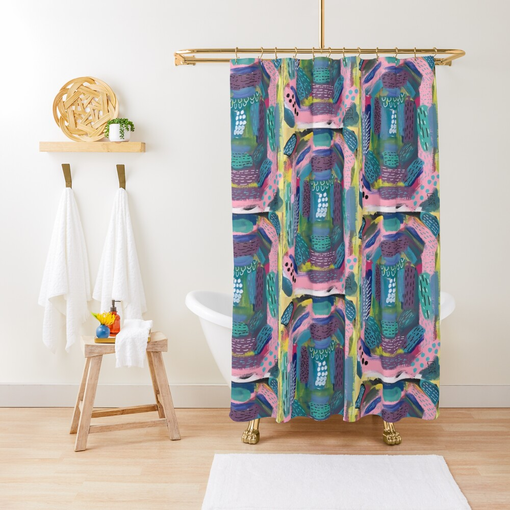 The Impression of the Electric Element  Shower Curtain
