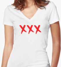 Triple XXX Women's Fitted V-Neck T-Shirt