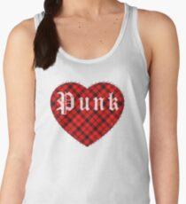 Red Tartan Punk Heart Women's Tank Top