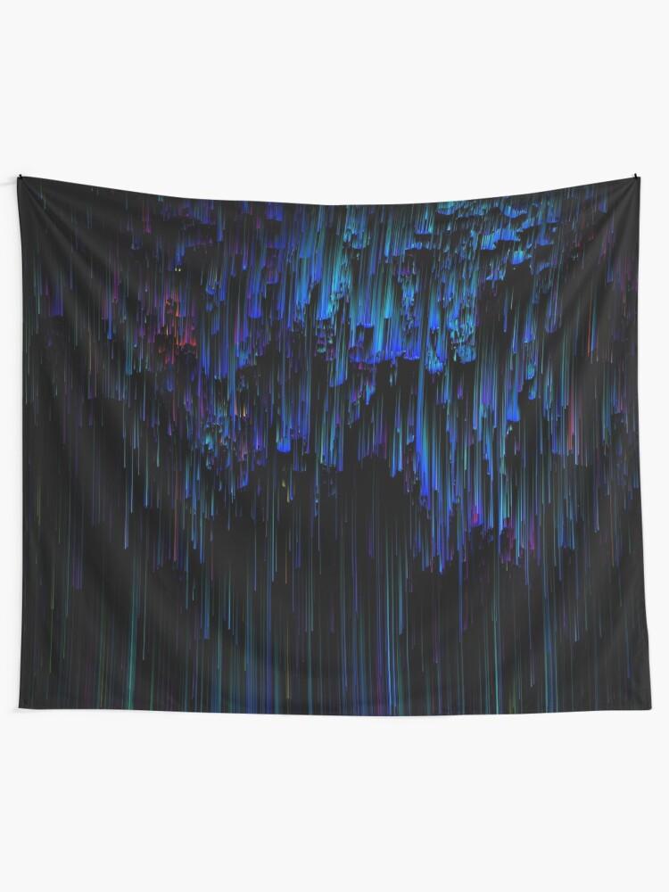 Alternate view of Night Rain Tapestry