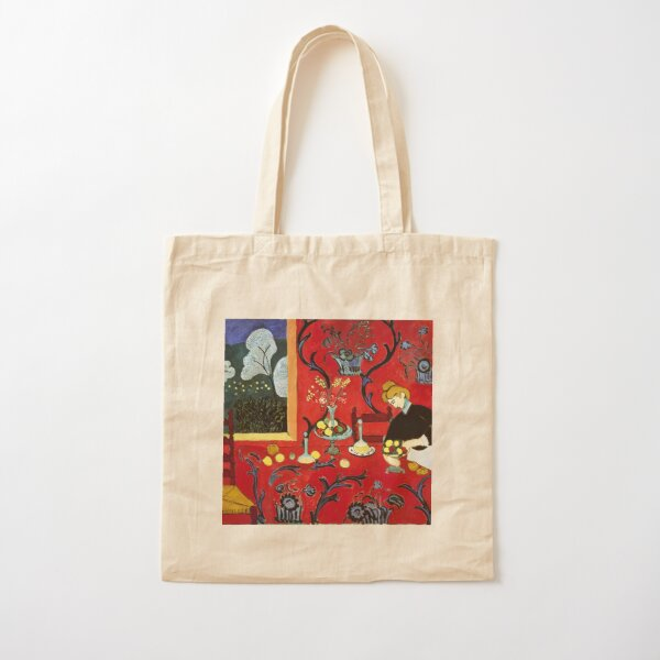 The Dessert: Harmony in Red Cotton Tote Bag