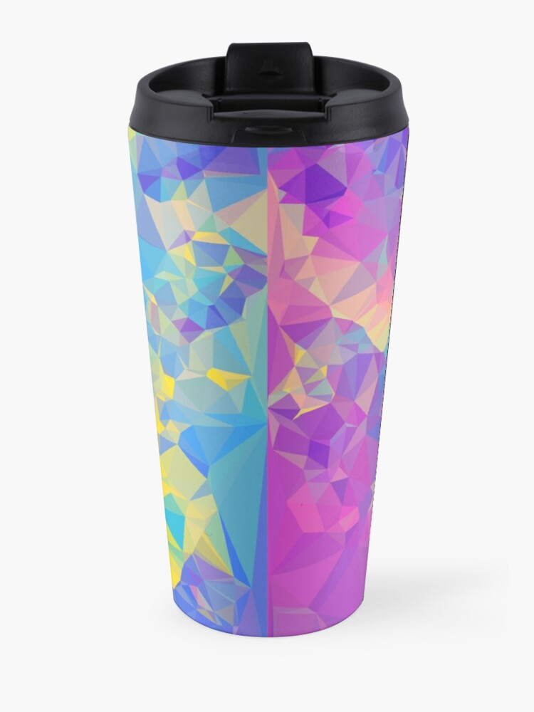 Alternate view of Polystone - Digital Abstract Travel Mug