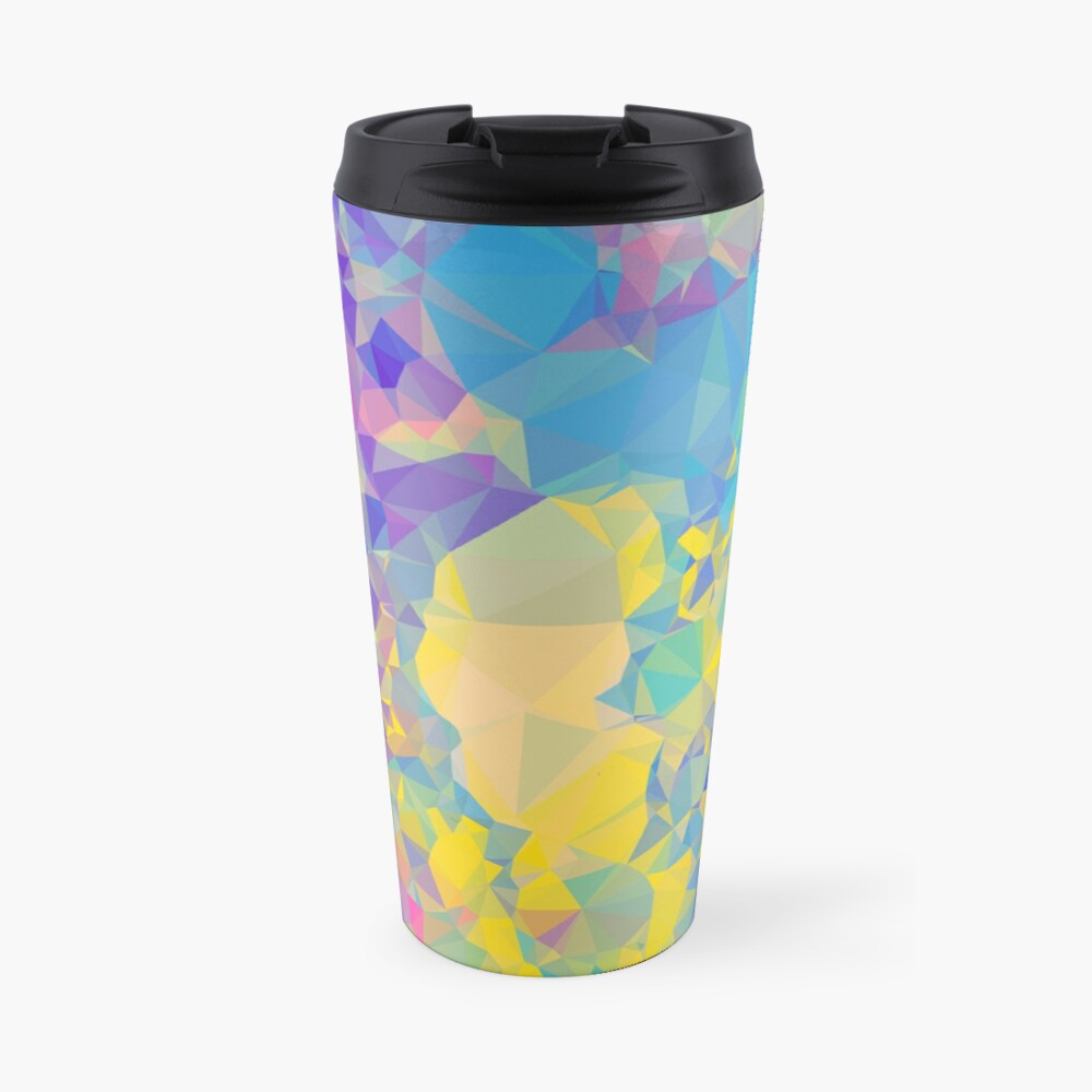 Polystone - Digital Abstract Travel Mug