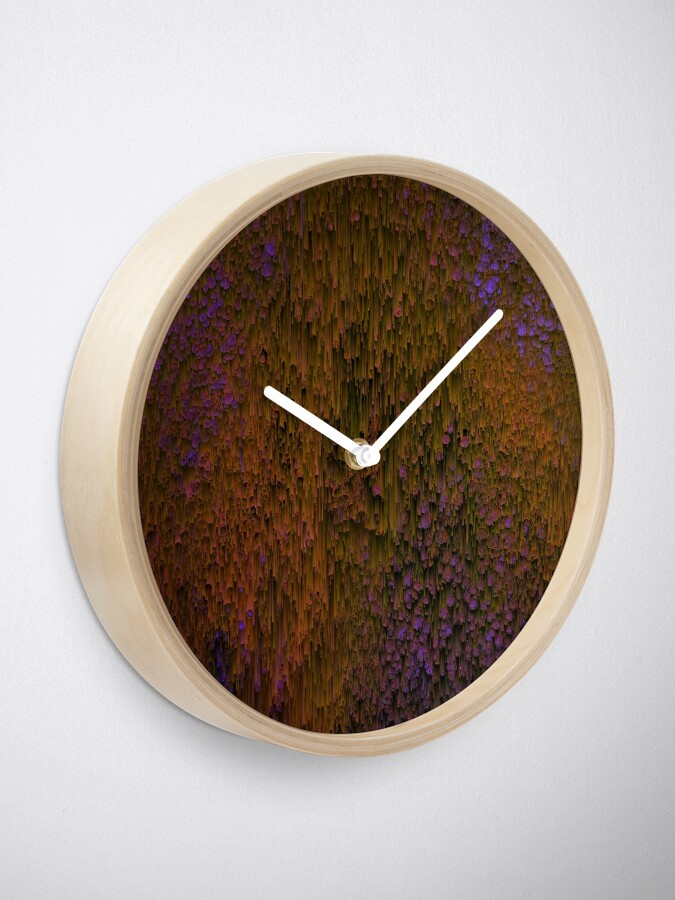 Alternate view of Flower Shower - Abstract Pixel Art Clock