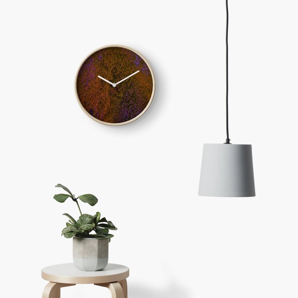 Flower Shower - Abstract Pixel Art Clock