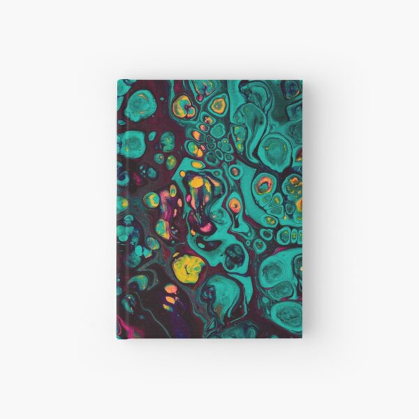 Crunchberries - Teal & Pink Abstract Hardcover Journal