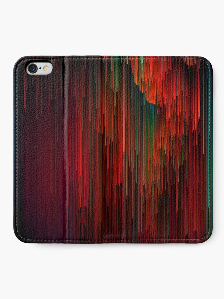 Alternate view of Volcanic Glitches - Abstract Pixel Art iPhone Wallet
