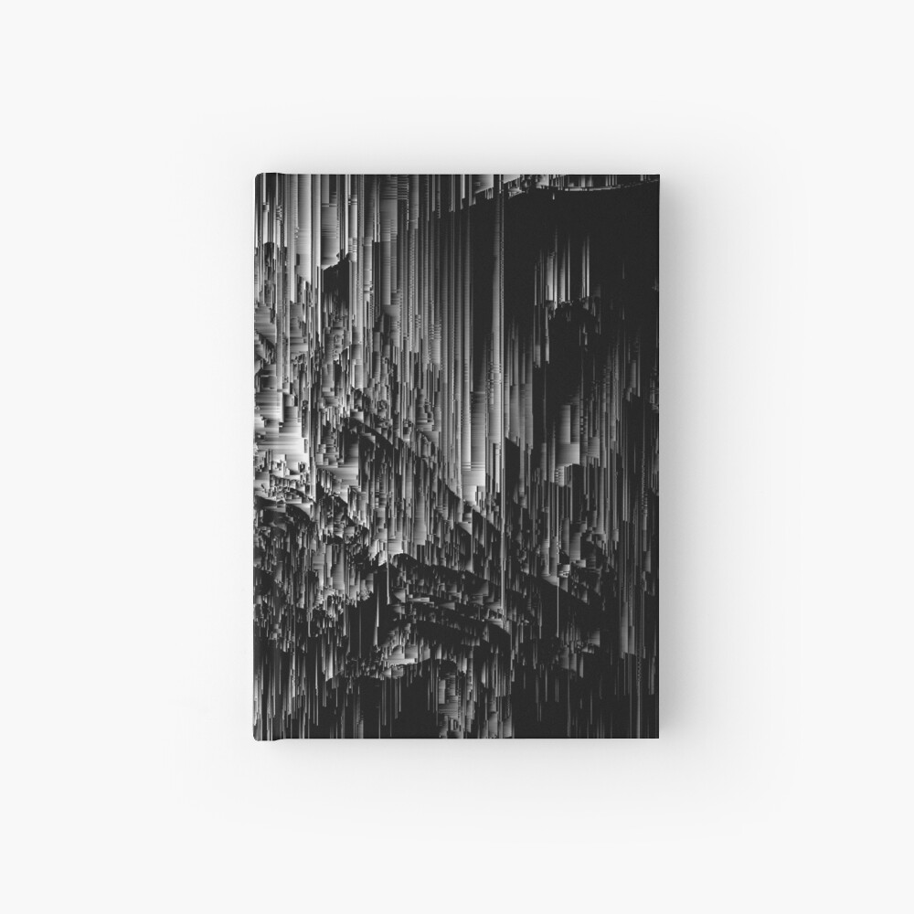 Night of the Glitches - Abstract Pixel Art Hardcover Journal