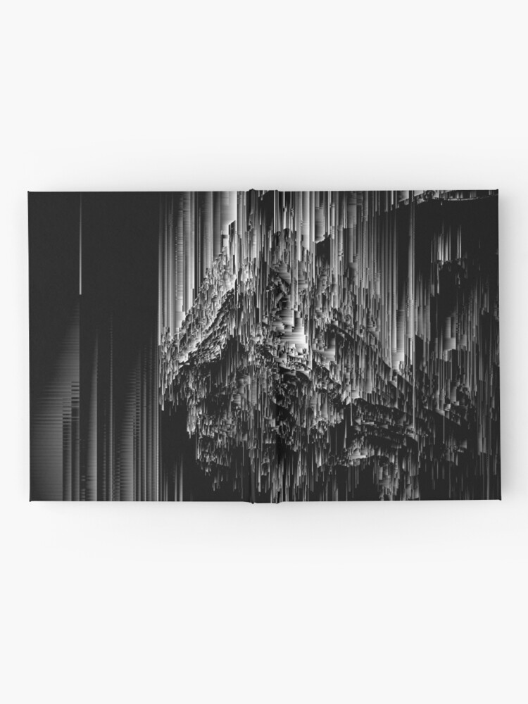 Alternate view of Night of the Glitches - Abstract Pixel Art Hardcover Journal