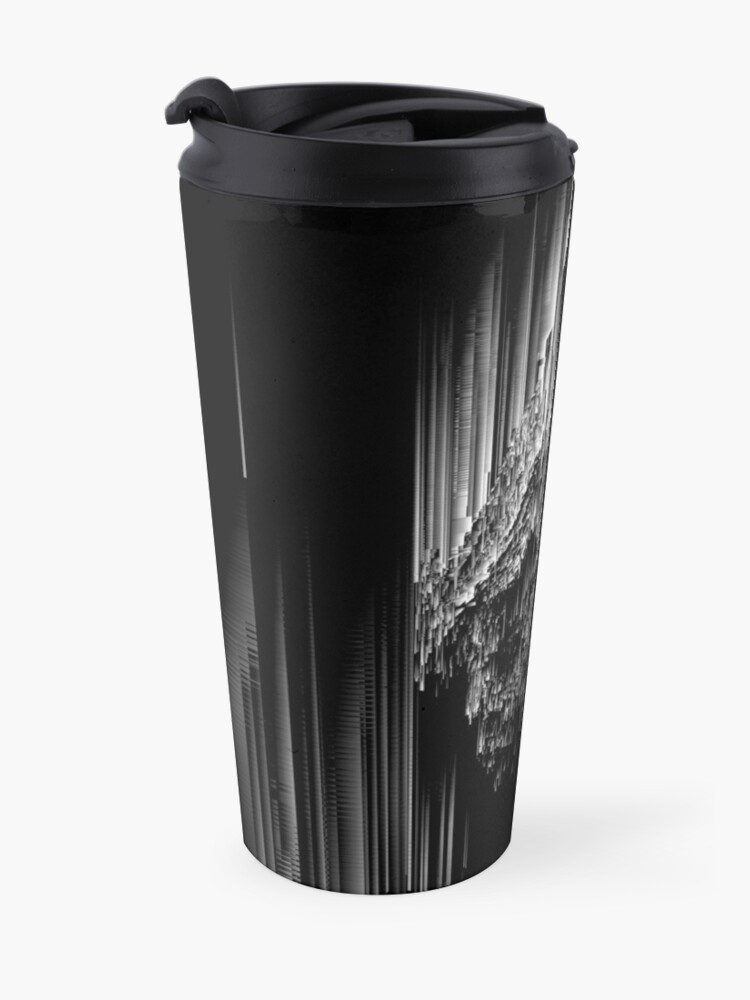 Alternate view of Night of the Glitches - Abstract Pixel Art Travel Mug