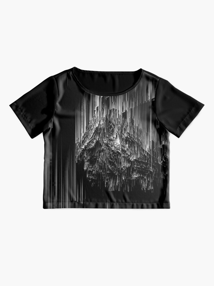 Alternate view of Night of the Glitches - Abstract Pixel Art Chiffon Top