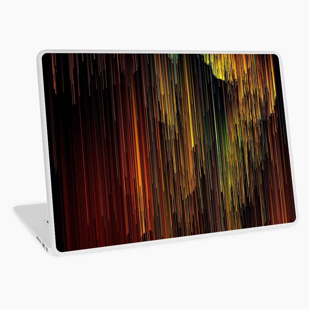 Rainbow Rain Glitches - Pixel Art Laptop Skin