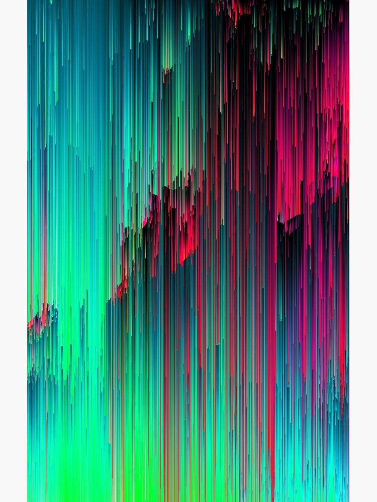 Just Chillin' - Abstract Neon Glitch Pixel Art by InsertTitleHere