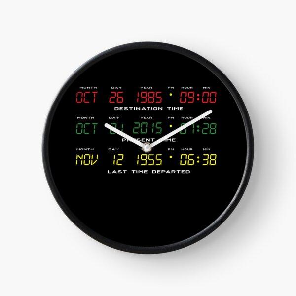 DeLorean Time Travel Display Dashboard Clock