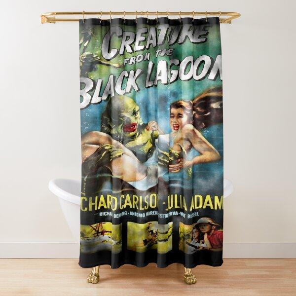 Creature From The Black Lagoon - Dark Version. Shower Curtain