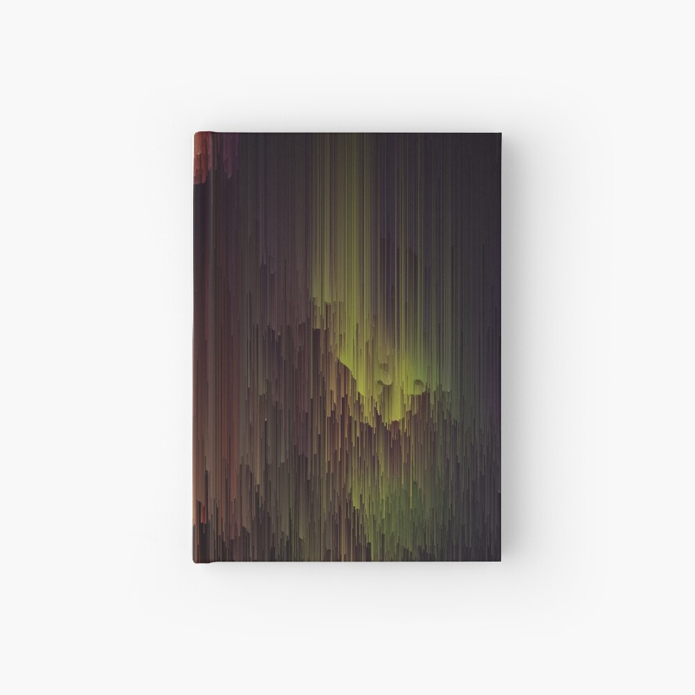 Depth of the Mountain - Glitchy Abstract Pixel Art Hardcover Journal