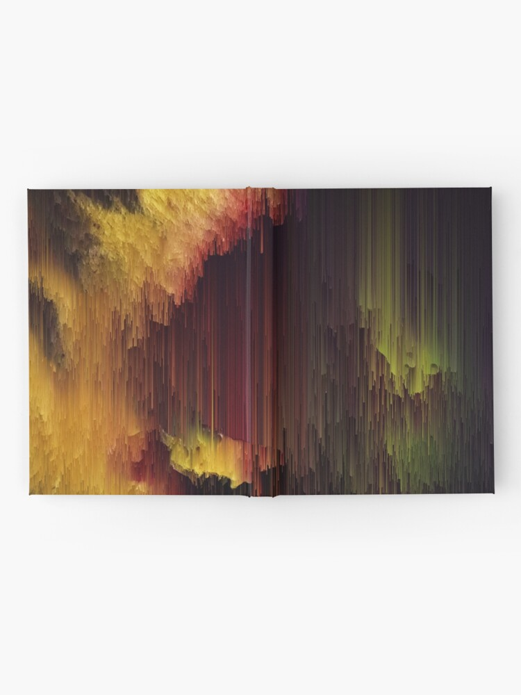 Alternate view of Depth of the Mountain - Glitchy Abstract Pixel Art Hardcover Journal
